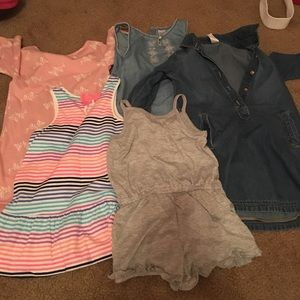Bundle of dresses.  Mostly Carters brand